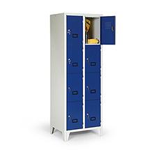 Schließfachschrank, 1800x1200x500, Füße, Abteilbreite 300mm, 4 Reihen, 16 Fächer