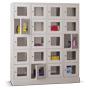 Schließfachschrank mit Sichtfenster PAVOY® mit 4 x 2 Fächern, Breite 1230 mm