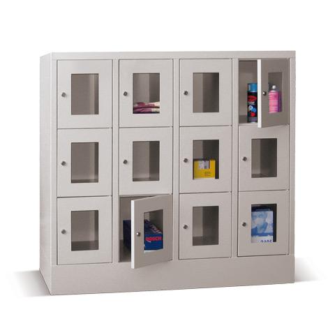 Schließfachschrank mit Sichtfenster PAVOY® mit 4 x 5 Fächern, Breite 1230 mm