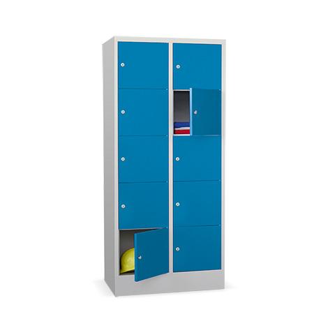 Schließfachschrank PAVOY ® mit 2 x 5 Fächern, Breite 830 mm