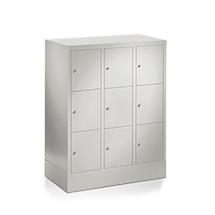 Schließfachschrank PAVOY ® mit 3 x 3 Fächern, Breite 1230 mm