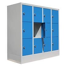 Schließfachschrank PAVOY mit 4 Abteile und 12 Fächer