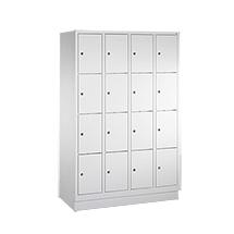 Schließfachschrank PAVOY ® mit 4 x 4 Fächern, Breite 1630 mm