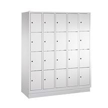 Schließfachschrank PAVOY ® mit 5 x 3 Fächern, Breite 1530 mm
