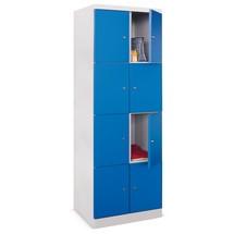 Schließfachschrank PAVOY mit aufschlagenden Türen, 2 x 4 Fächer, HxBxT 1.800 x 600 x 500 mm