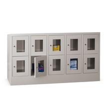 Schließfachschrank PAVOY mit Sichtfenster, 5 x 2 Fächer, HxBxT 855 x 1.530 x 500 mm