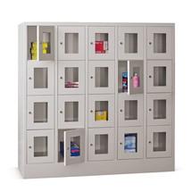 Schließfachschrank PAVOY mit Sichtfenster, 5 x 4 Fächer, HxBxT 1.518 x 1.530 x 500 mm