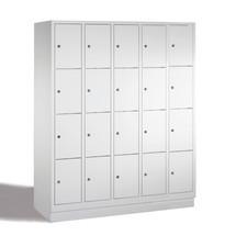 Schließfachschrank PAVOY mit Zylinderschloss, 5 x 4 Fächer, HxBxT 1.518 x 1.530 x 500 mm