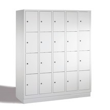Schließfachschrank PAVOY mit Zylinderschloss, 5 x 5 Fächer, HxBxT 1.850 x 1.530 x 500 mm
