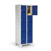 Schließfachschrank Portofino mit Belüftungsfeld, 2 x 4 Fächer, HxBxT 1.800 x 810 x 500 mm, mit Füßen