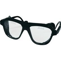 Schmerler Schutzbrille, EN 166 Bügel schwarz, Scheibe klar Nylon, Glas