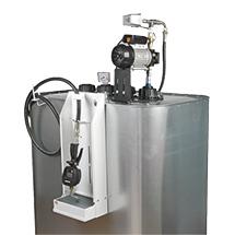 Schmierstoff-Tank mit Elektropumpe.