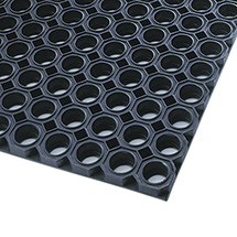 Schmutzfangmatte mit Wabenprofil, aus Kautschuk, 2 Maße zur Auswahl
