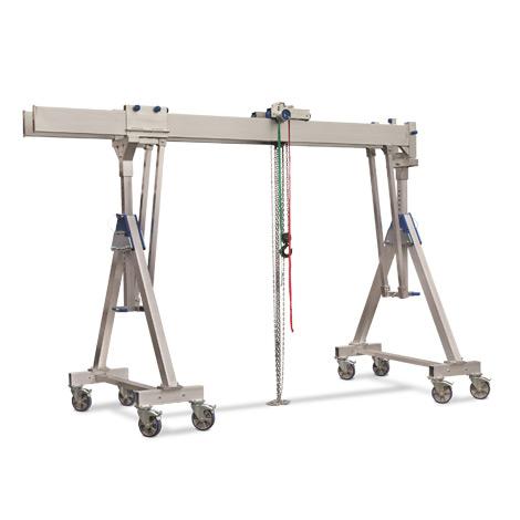 Schnellbau-Portalkran - Verfahrbare Ausführung mit Doppelträger