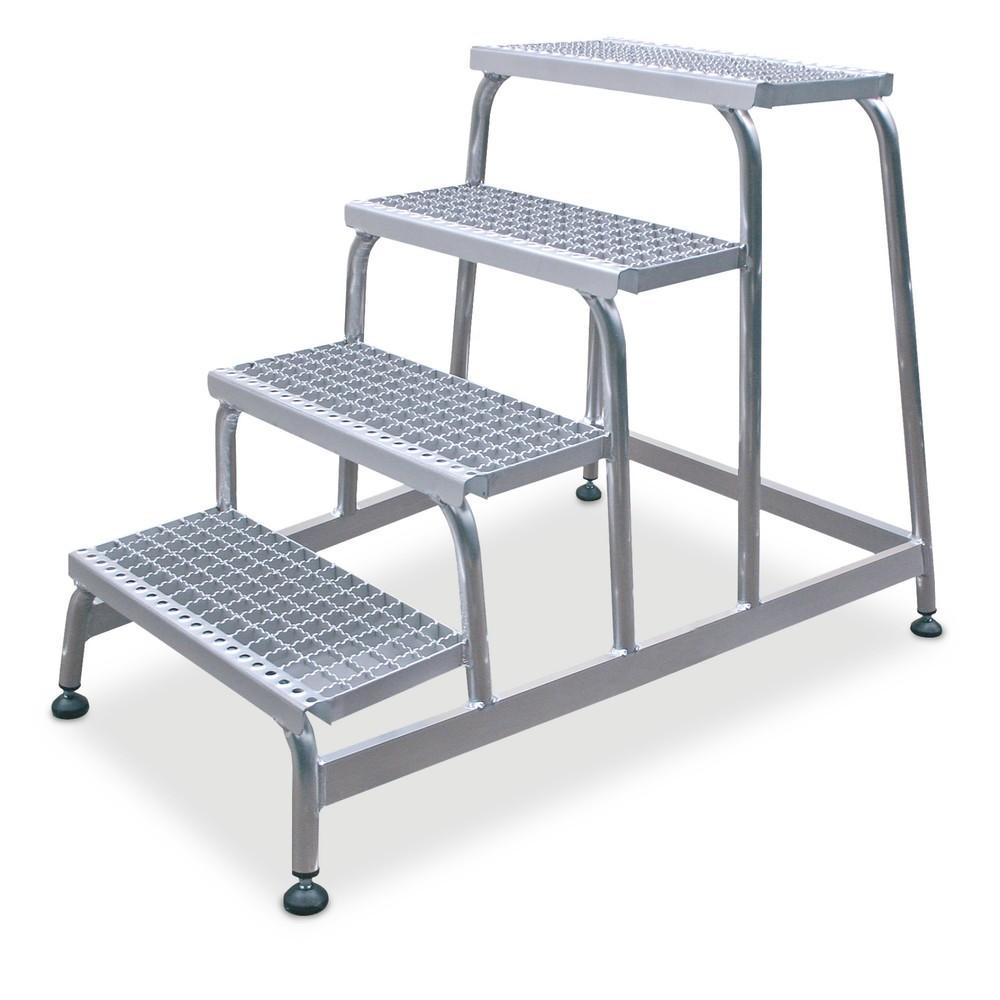 Schodki montażowe KRAUSE® ze stopniami zkraty aluminiowej