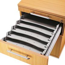 Schrägablage-Set für Rollcontainer. Höhe 590 - 760 mm