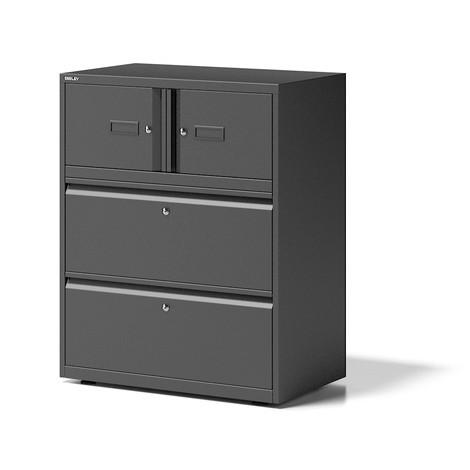 Schrank-Kombination BISLEY Essentials, 2 Türen + 2 Schubladen