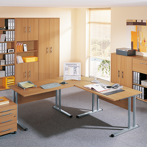 schrank starter mit 4 kurzen t ren und 5 b den. Black Bedroom Furniture Sets. Home Design Ideas