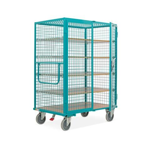 Schrankwagen Ameise®, Gitterwände, türkisblau