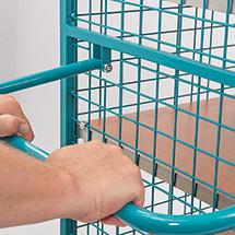 Schrankwagen Ameise® mit Gitterwänden. 2 Türen, Boden aus MDF-Platte, HxBxT: 1800x1115x810 mm