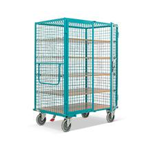 Schrankwagen Ameise® mit Gitterwänden. 2 Türen, Boden aus MDF-Platte, HxBxT: 1800x1315x910 mm