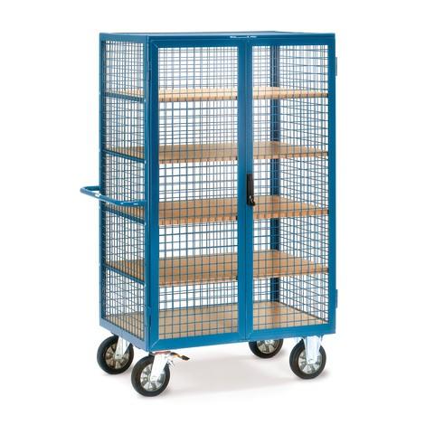 Schrankwagen fetra®, Gitterwände, mit Doppelflügltür