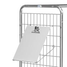 Schreibtafel für Kommissionierwagen fetra®
