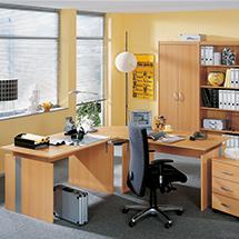 Schreibtisch C-Fuß für Büroserie Advantage
