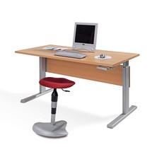 Schreibtisch, manuell höhenverstellbar