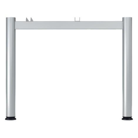 Schreibtisch Profi, 4-Fuß höhenverstellbar, Freiform 135°