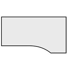 Schreibtisch Profi mit PC-Form rechts/links. Höhe 720 mm. C-Fuß