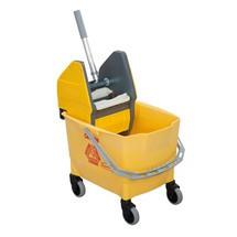 Schrobmachine, één emmer van 18 liter, geel