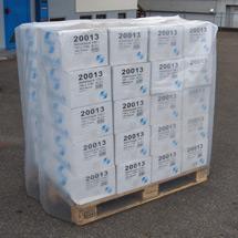 Schrumpffolie aus Polyethylen. Breite 1250mm, Tiefe 850mm