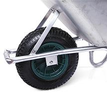 Schubkarre, galvanisch verzinkt, Tragkraft 150kg, Volumen wahlweise 85 Liter oder 100 Liter