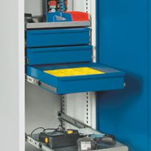 Schublade für Schrank B x T 500x500 mm, blau
