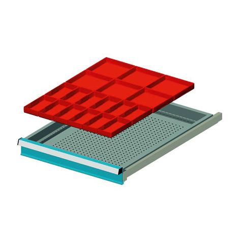 Schubladen einsatz mit 18 einsatzkasten for Schubladen einsatz