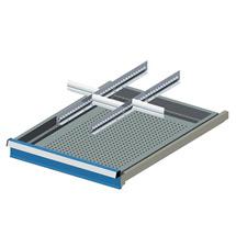 Schubladen-Einsatz mit 2 Schlitzwänden + 3 Trennblechen