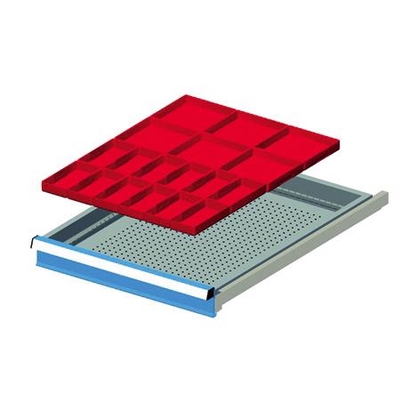 Schubladen-Einsatz mit 24 Einsatzkästen