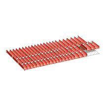 Schubladen-Einteilungsmaterial, 12 Muldenteile 4-teilig, 6 Muldenteile 3-teilig