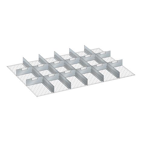 Schubladen-Einteilungsmaterial, 5 Schlitzwände, 12 Trennbleche