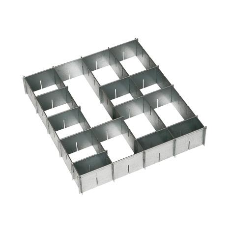 Schubladen-Einteilungsset, verzinkt, für große Schublade (BxT 950 x 500 mm)