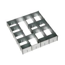 Schubladen-Einteilungsset, verzinkt, für kleine Schublade (BxT 500 x 500 mm)