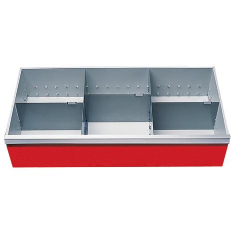 Schubladeneinteilung für Schrankbreite 980 mm. Fronthöhe 200 mm