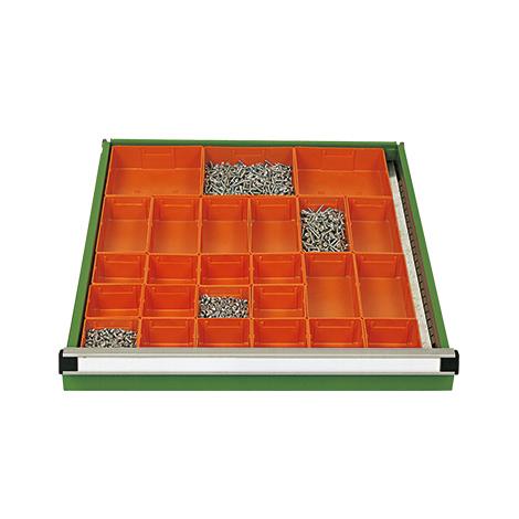 Schubladeneinteilung für Werkbänke, 25 Einzelkästen