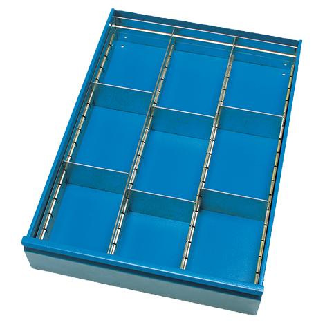 Schubladeneinteilung für Werkstattschrank fetra®. TK 250kg, 2 Etagen