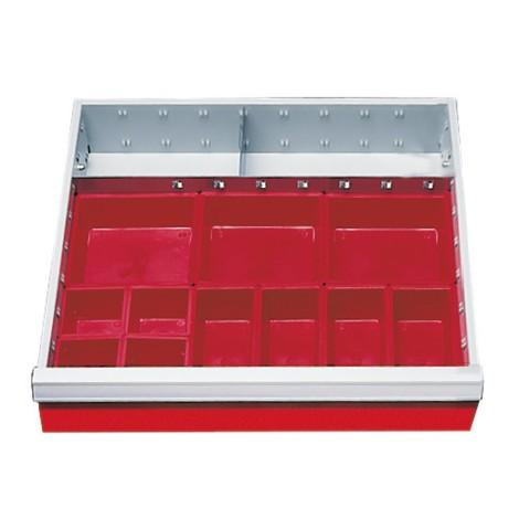 Schubladeneinteilung für Werkstattwagen