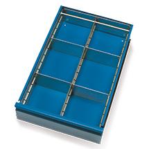 Schubladeneinteilung für Werkstattwagen fetra®, 6 Fächer
