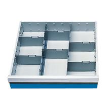 Schubladeneinteilung für Werkstattwagen mit/ohne Loch-/Schlitzplatten