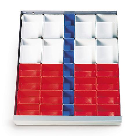 Schubladeneinteilung für Werkzeugschrank, Breite 1200mm, Kunststoff