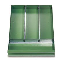 Schubladeneinteilung für Werkzeugschrank, Breite 930mm, verzinkt